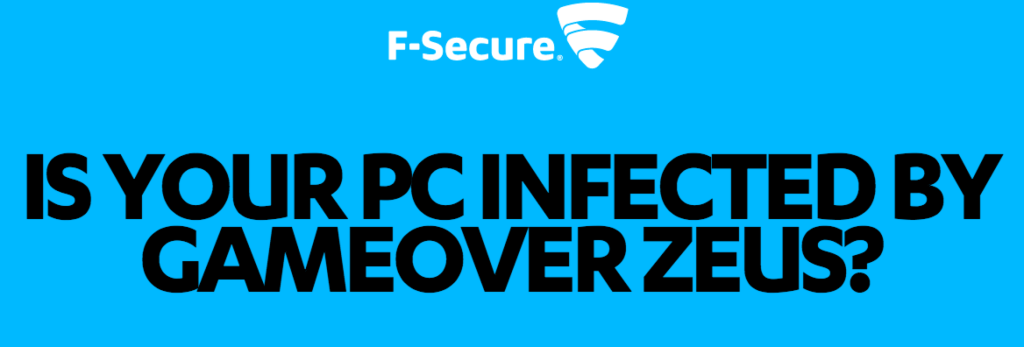 F-secure Gameover Zeus malware scanner