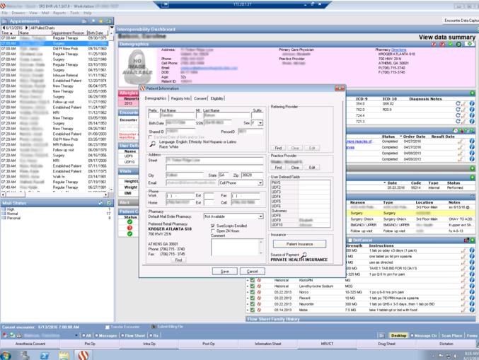 Captura de base de datos