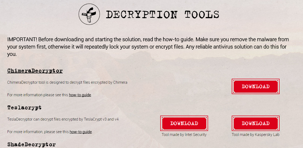 decryption tools