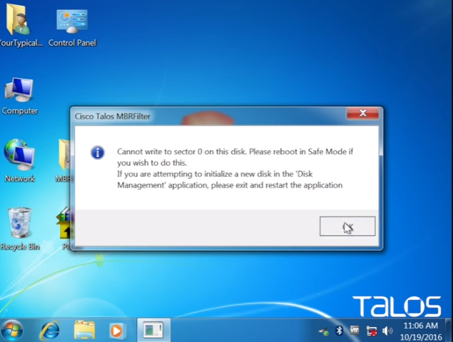 MBRFilter: Protege tu Master Boot Record con esta herramienta de Cisco