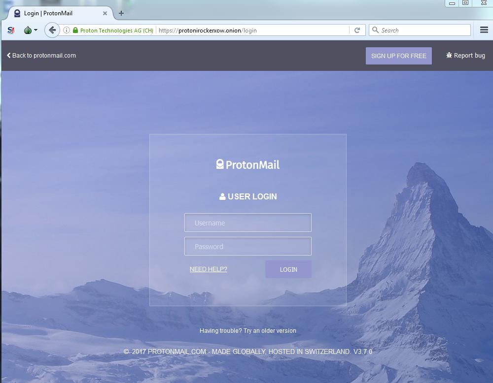 ProtonMail disponible para Tor y evitar la censura