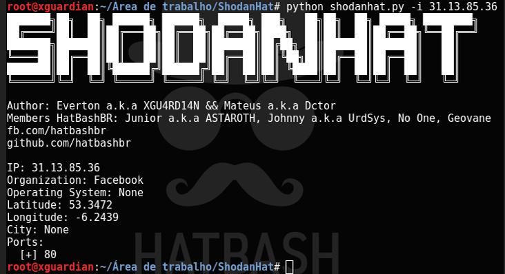 ShodanHat – Busca información de los Host con Shodan