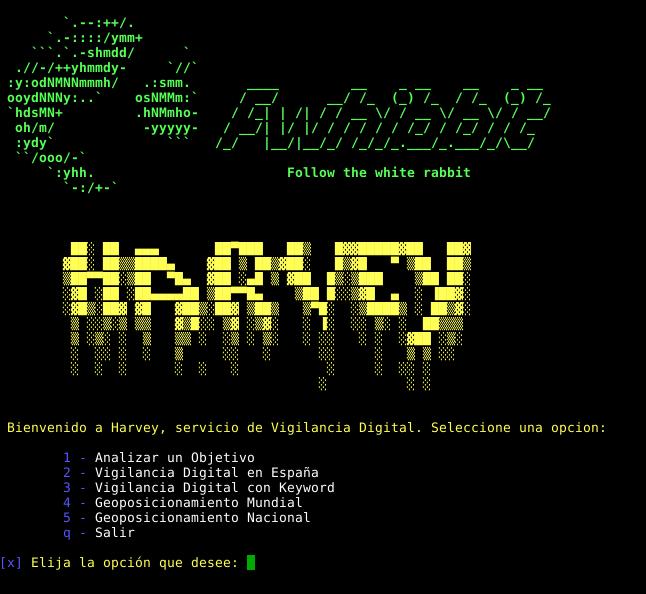 Harvey : Herramienta para realizar Open-source intelligence en Twitter