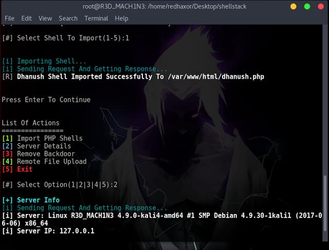 ShellStack – Una herramienta en PHP para administrar todos tus sitios con puertas traseras de manera eficiente.