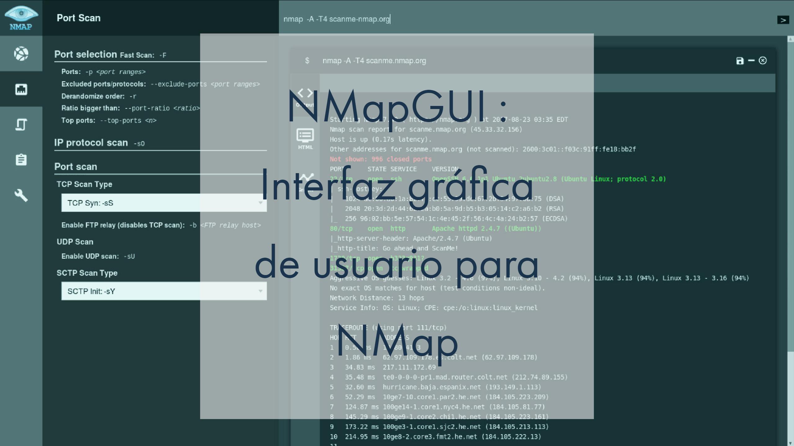 NMapGUI : Interfaz gráfica de usuario para NMap