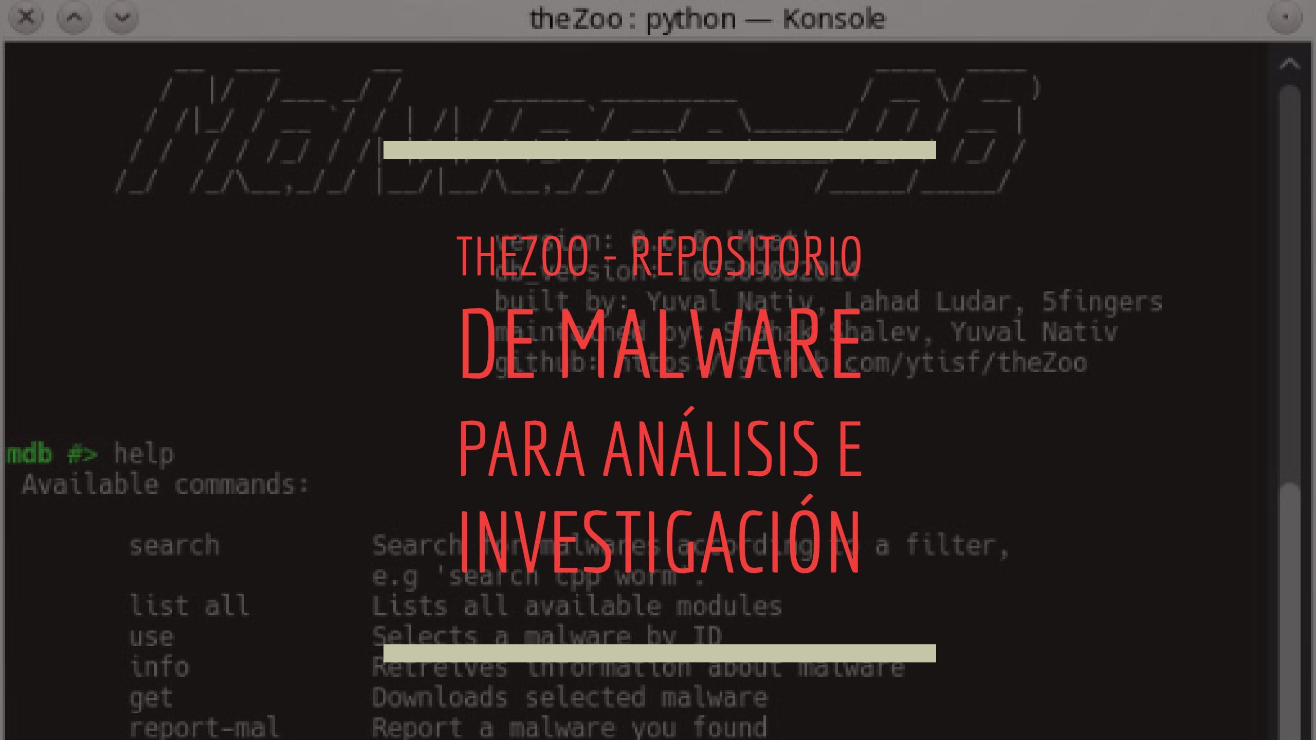 theZoo – Repositorio de malware para análisis e investigación