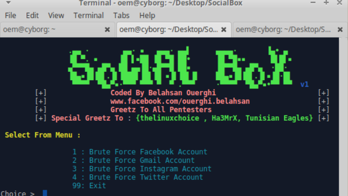 SocialBox – framework para realizar ataques de fuerza bruta [Facebook, Gmail, Instagram, Twitter]