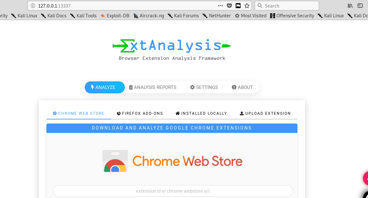 ExtAnalysis:Framework para análisis de extensiones