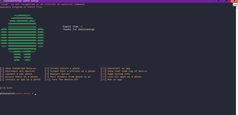 PhoneSploit v1.2 – Usando puertos abiertos Adb para explotar un dispositivo Andriod