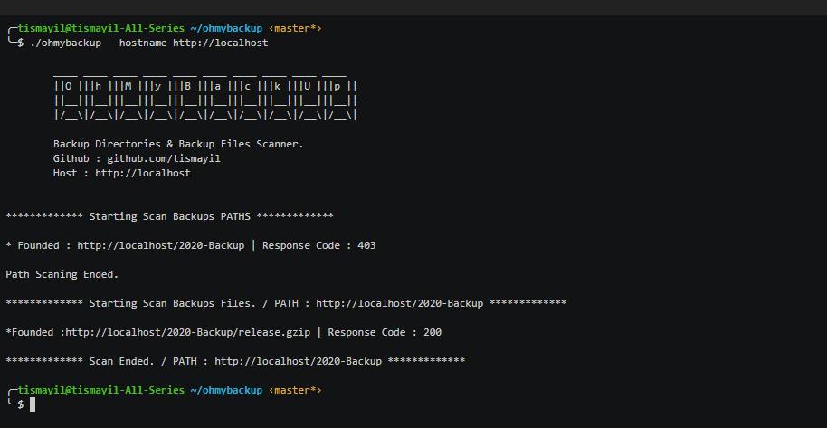 Ohmybackup – Escanea directorios y archivos de respaldo de sitios web