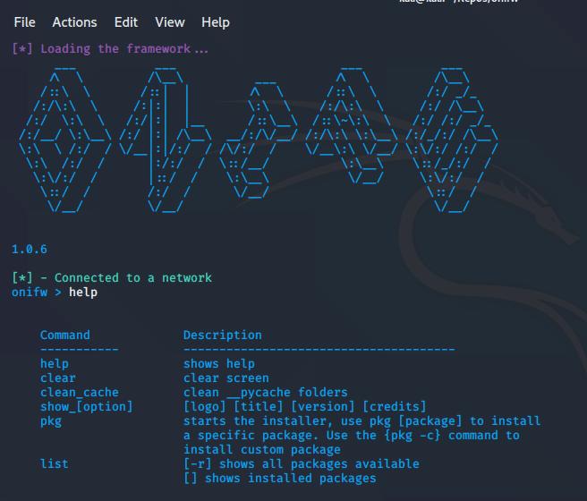 Onifw – framework basado en consola para pentesters